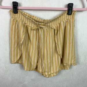 American Eagle Striped Shorts Mustard Yellow Small